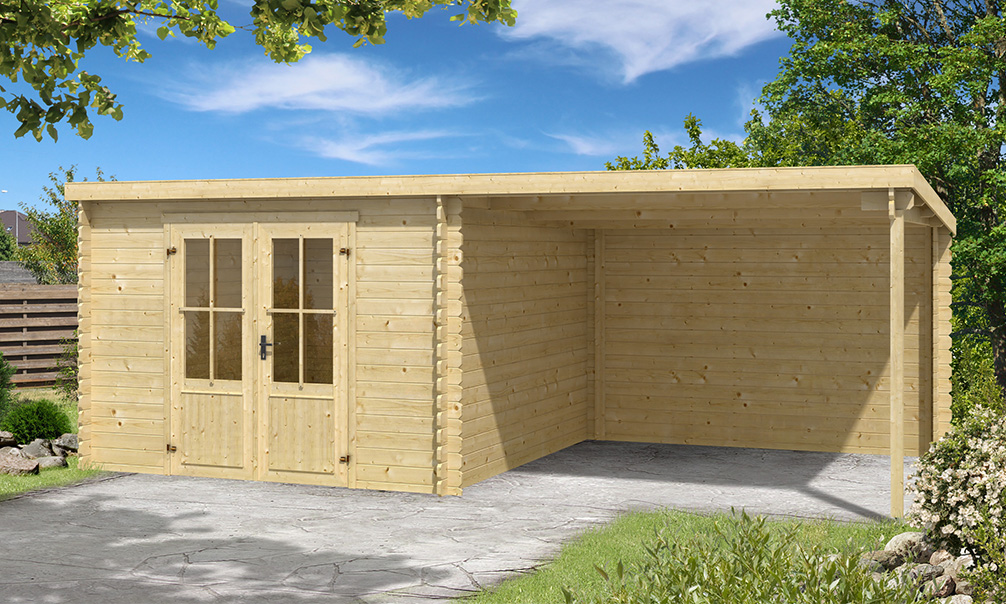 abri de jardin avec garage