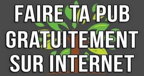 Publicité gratuite sur Internet