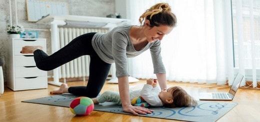 se muscler chez soi après un accouchement