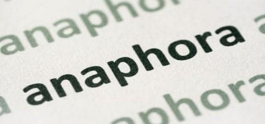 définition de l'anaphore